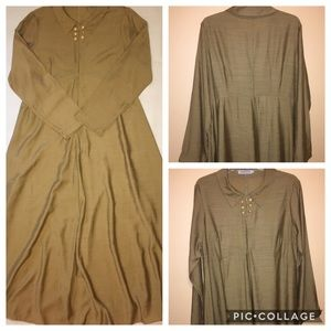 Misslook Modest Festival Maxi Dress XL Golden Tan